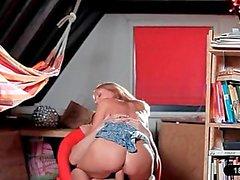 Wild Blond Natasha Gets Banged In Classroom