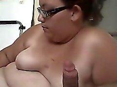 Amateur BBW Smoking And Sucking Cock