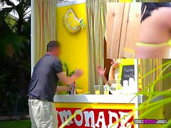 Vendor Kristina Rose Sells Lemonade And Pleasure