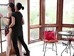 An intimate interracial lesbian sex