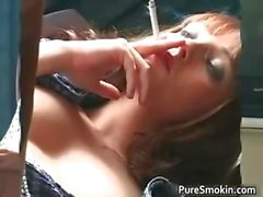 Aamazing redhead is smoking and showing part5