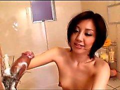 Sexy elegante Japanse dame afgeroomd door airliner1