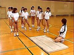 Asiatischen Teens Tier Hairy Muschi Warm Ärsche Ausdehnungs Während Gym Class