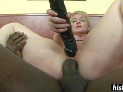 Monika Wipper tries a big black cock