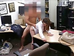Big tits business lady fucked in exchange for a plane ticket