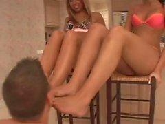 Kinky guy likes to lick feet and ass