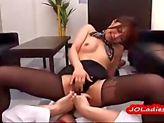 Jap Office Lady Riding On her employers hard Cock