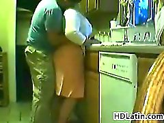 Fat Latin Woman Being Fucked In A Kitchen