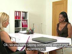 Ebony gal jävla het casting agent
