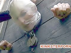 Outdoor BDSM Torments and Humiliation of Chained Slave Olivia Rose