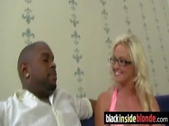 Busty Blonde Fucks and Sucks a Huge Black Monster Cock 29