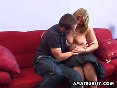 Giant boobs blonde milf get a big dick