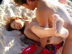 Sweet Asian Teen At The Beach