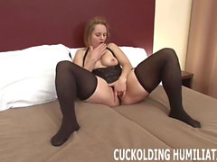 I will choke on his big cock while you watch