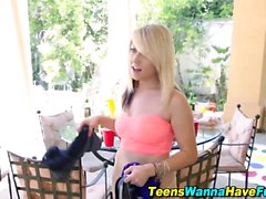 Party teen cum sprayed