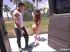 Juicy butt latina Kelsi Monroe takes dick of stranger