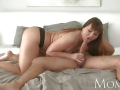 MOM Mature brunette wants her man to cum inside