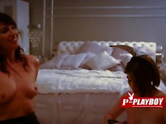 Hot babes moaning hard during kinky foreplay