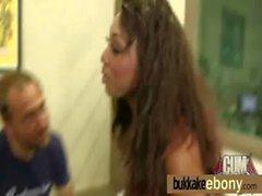 Sexy ebony babe goes crazy sucking and riding several white dicks 4