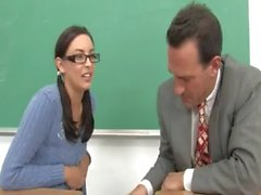 Luxury schoolmate and her horny teacher