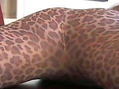 Nylons loving femdom horny in pantyhose