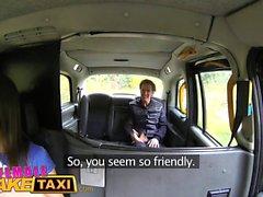 Female Fake Taxi Sexy horny tattoed driver enjoys a facial