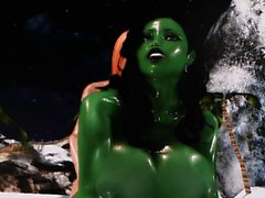 3D Hentai Beauties Sexy Bitch Futa x She-Hulk