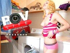 POV laundry room BJ