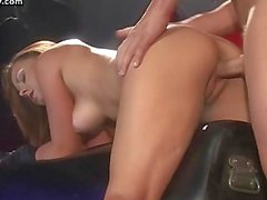 Tied up babe gets rammed by a cock