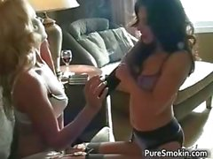 Two hot sexy horny lesbian babes having part4