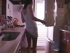 Pretty housewife has a kinky guy enjoying the sweet taste o