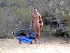 Wank op het strand