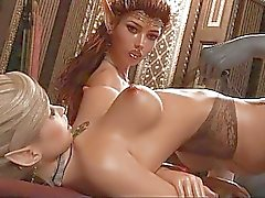 En 3D peludas Elf Chica destruido en el trío !
