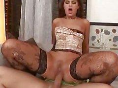 Amazing hot latina in stockings