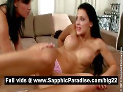 Amazing brunette lesbians licking pussy and asshole and having lesbian sex