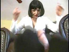 Mistress Pantyhose footjob