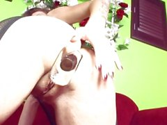 Nikki Nievez stretches her tight asshole with a nice butt plug