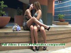 Devaun e di Wendy focose lesbiche che baciano e di diteggiatura reciproci pussies