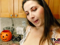 Big Ass MILF Madisin Lee Gives Son a Creampie For Halloween