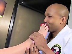 Amanda lernt Karate Sex mit schwarzen Kerl