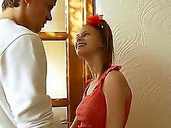 Busty belarusian teen having ass dildoed