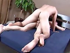 Gay twinks Jimmy let out and tore off the condom as Rex roll