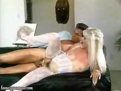 Bride in white doing blowjob and gets laid