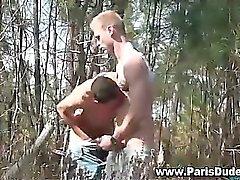 Gays Francês caralho ea Ejaculação