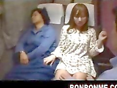 Fuck daughter and mother is sleeping nearby on bus 04