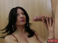 Sexy girl titty cumshot