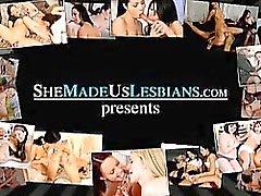 Schoolgirls baciano prima trasformati in sesso hard lesbiche