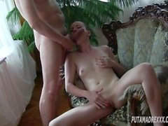 Small Tits Pussycat Young Blowjob Queen Milf Head & Big Load Cum on Chest