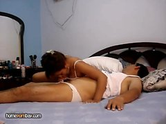 Steaming inexperienced wifey nailed on bed