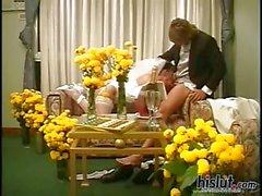 Bride spreading her legs